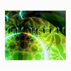 Dawn Of Time, Abstract Lime & Gold Emerge Glasses Cloth (small, Two Sided)