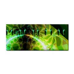 Dawn Of Time, Abstract Lime & Gold Emerge Hand Towel