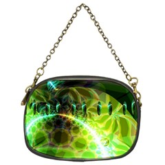 Dawn Of Time, Abstract Lime & Gold Emerge Chain Purse (two Sided)