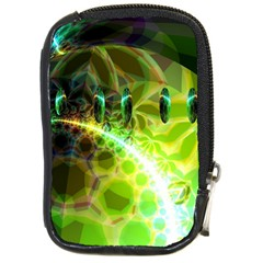 Dawn Of Time, Abstract Lime & Gold Emerge Compact Camera Leather Case