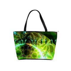Dawn Of Time, Abstract Lime & Gold Emerge Large Shoulder Bag
