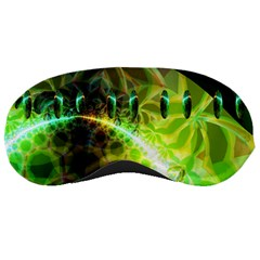 Dawn Of Time, Abstract Lime & Gold Emerge Sleeping Mask