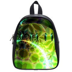 Dawn Of Time, Abstract Lime & Gold Emerge School Bag (Small)