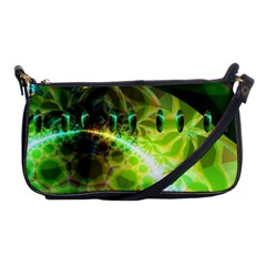 Dawn Of Time, Abstract Lime & Gold Emerge Evening Bag