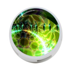 Dawn Of Time, Abstract Lime & Gold Emerge 4-Port USB Hub (One Side)
