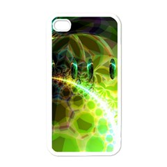 Dawn Of Time, Abstract Lime & Gold Emerge Apple Iphone 4 Case (white)