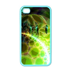 Dawn Of Time, Abstract Lime & Gold Emerge Apple Iphone 4 Case (color)
