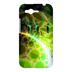 Dawn Of Time, Abstract Lime & Gold Emerge HTC Rhyme Hardshell Case