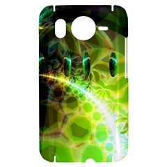 Dawn Of Time, Abstract Lime & Gold Emerge HTC Desire HD Hardshell Case