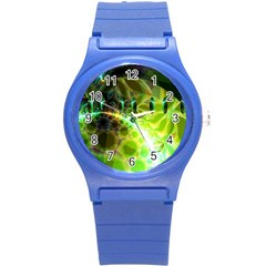 Dawn Of Time, Abstract Lime & Gold Emerge Plastic Sport Watch (small)