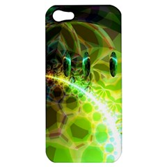 Dawn Of Time, Abstract Lime & Gold Emerge Apple Iphone 5 Hardshell Case
