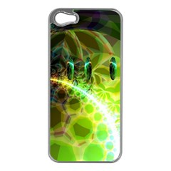 Dawn Of Time, Abstract Lime & Gold Emerge Apple iPhone 5 Case (Silver)