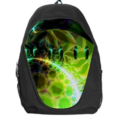 Dawn Of Time, Abstract Lime & Gold Emerge Backpack Bag