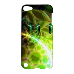 Dawn Of Time, Abstract Lime & Gold Emerge Apple iPod Touch 5 Hardshell Case