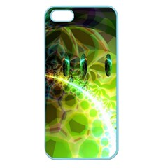 Dawn Of Time, Abstract Lime & Gold Emerge Apple Seamless Iphone 5 Case (color)