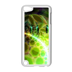 Dawn Of Time, Abstract Lime & Gold Emerge Apple iPod Touch 5 Case (White)