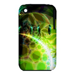 Dawn Of Time, Abstract Lime & Gold Emerge Apple iPhone 3G/3GS Hardshell Case (PC+Silicone)