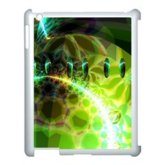 Dawn Of Time, Abstract Lime & Gold Emerge Apple iPad 3/4 Case (White)
