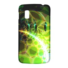 Dawn Of Time, Abstract Lime & Gold Emerge Google Nexus 4 (LG E960) Hardshell Case