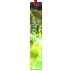 Dawn Of Time, Abstract Lime & Gold Emerge Large Bookmark