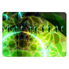 Dawn Of Time, Abstract Lime & Gold Emerge Samsung Galaxy Tab 8 9  P7300 Flip Case
