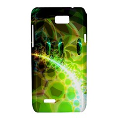 Dawn Of Time, Abstract Lime & Gold Emerge Motorola XT788 Hardshell Case