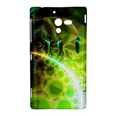 Dawn Of Time, Abstract Lime & Gold Emerge Sony Xperia ZL (L35H) Hardshell Case