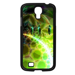 Dawn Of Time, Abstract Lime & Gold Emerge Samsung Galaxy S4 I9500/ I9505 Case (Black)