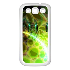 Dawn Of Time, Abstract Lime & Gold Emerge Samsung Galaxy S3 Back Case (white)
