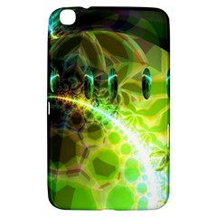 Dawn Of Time, Abstract Lime & Gold Emerge Samsung Galaxy Tab 3 (8 ) T3100 Hardshell Case