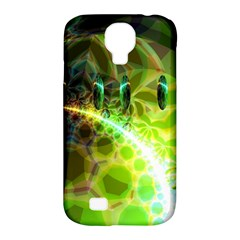 Dawn Of Time, Abstract Lime & Gold Emerge Samsung Galaxy S4 Classic Hardshell Case (PC+Silicone)
