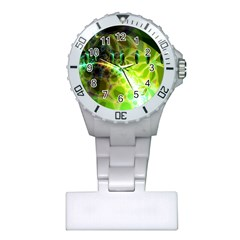 Dawn Of Time, Abstract Lime & Gold Emerge Nurses Watch