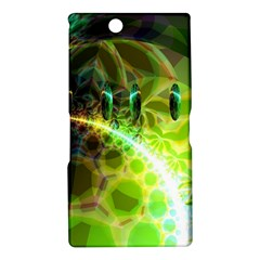 Dawn Of Time, Abstract Lime & Gold Emerge Sony Xperia Z Ultra (XL39H) Hardshell Case
