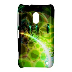 Dawn Of Time, Abstract Lime & Gold Emerge Nokia Lumia 620 Hardshell Case