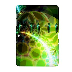 Dawn Of Time, Abstract Lime & Gold Emerge Samsung Galaxy Tab 2 (10.1 ) P5100 Hardshell Case