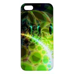 Dawn Of Time, Abstract Lime & Gold Emerge iPhone 5S Premium Hardshell Case