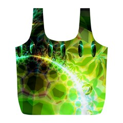 Dawn Of Time, Abstract Lime & Gold Emerge Reusable Bag (L)