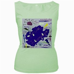 Life With Fibro2 Women s Tank Top (Green)
