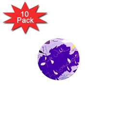Life With Fibro2 1  Mini Button Magnet (10 pack)