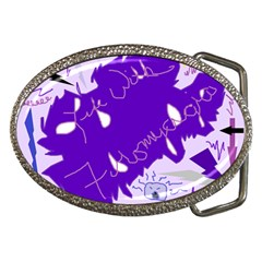 Life With Fibro2 Belt Buckle (oval)