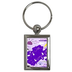 Life With Fibro2 Key Chain (Rectangle)