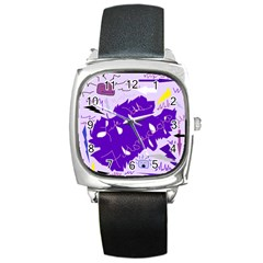 Life With Fibro2 Square Leather Watch