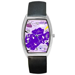 Life With Fibro2 Tonneau Leather Watch