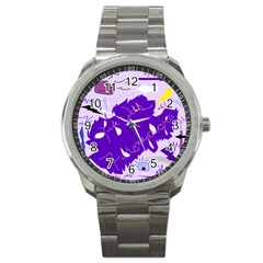 Life With Fibro2 Sport Metal Watch