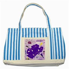 Life With Fibro2 Blue Striped Tote Bag