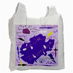 Life With Fibro2 White Reusable Bag (Two Sides)