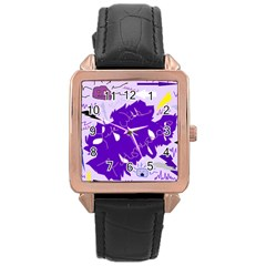 Life With Fibro2 Rose Gold Leather Watch