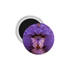 Artsy Purple Awareness Butterfly 1.75  Button Magnet