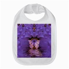 Artsy Purple Awareness Butterfly Bib