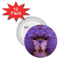 Artsy Purple Awareness Butterfly 1 75  Button (10 Pack)
